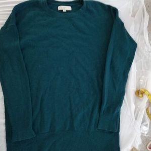 Ann Taylor Loft Women Long blue Sweater with slits